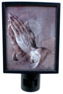 Religious Christmas Holiday Night Light Praying Hands Apostles Hands 17