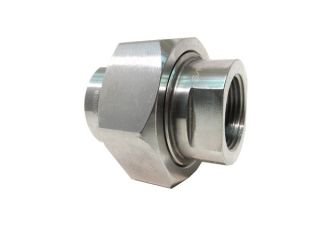 "Zook USA 1"" 2U 316x316 3000 Stainless Steel Union Compression Fitting"