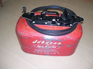 Johnson 4 Gallon 2 Line Outboard Motor Pressure Fuel Gas Tank