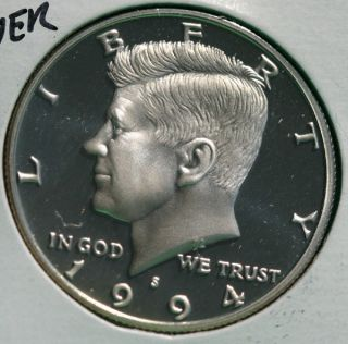 1994 s Proof Silver Kennedy Half Dollar Coin 50 Cent JFK from US Mint Proof Set