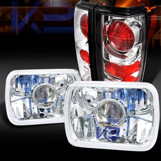82 93 Chevy S10 Blazer GMC S15 Chrome 7x6 Projector Headlights Tail Lamps