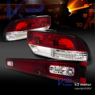 JDM 89 94 Nissan Silvia 240sx Hatch s13 Hatchback Red Clear 3pc Tail Lights