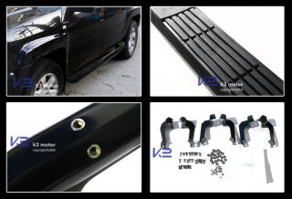 "2006 2012 Honda Ridgeline Black 3"" Side Step Nerf Bars Running Board"