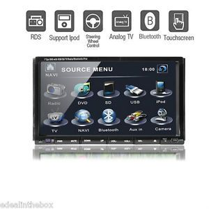 "D2208Z 7"" Double DIN in Dash Car Stereo DVD Player Bluetooth Touch Screen iPod"