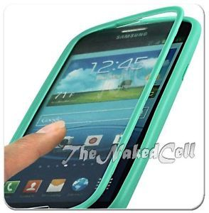 For Samsung Galaxy S3 SIII Green Touch Through Screen TPU Candy Case Cover Guard