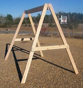 Cypress A Frame Stand for 4 or 5 ft Yard Swings Tree or Garden Swing Bench USA