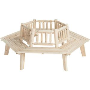 Cedar Outdoor Furniture Log Tree Bench T 24N411MB