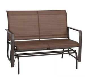 New Brown Outdoor Porch Backyard Patio Deck Glider Swing Lawn Bench Rocker Chair