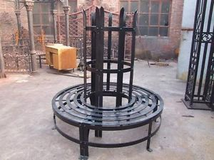 Wrought Iron Tree Guard Garden Bench MGINS400