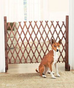 Portable Expanding Wood Fence Pet Gate Dog Cat Indoor Outdoor Garden Home Decor