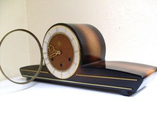 Very RARE Art Deco Westminster Mantel Clock Chimes Ankeruhr Germany