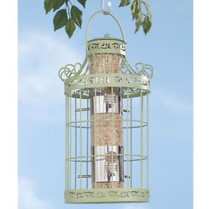 NEW Bird Seed Feeder Squirrel Proof Metal Cage 7 3 4 L x 7 3 4 W x 16 1 2 H