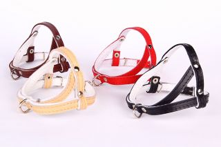 Real Leather Dog Harness Brown Black Natural or Red Small Medium Large