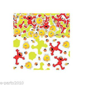 Sesame Street Confetti Elmo Big Bird Birthday Party Supplies Decorations