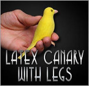 Deluxe Realistic Fake Rubber Canary Yellow Bird Legs Pro Latex Prop Magic Trick