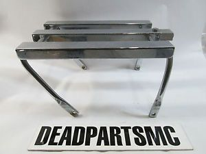 Harley Chrome Rear Fender Shovelhead FLH Luggage Rack Carrier 3 Channel