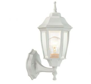 Hampton Bay 1 Light Outdoor White Dusk to Dawn Wall Lantern 240339