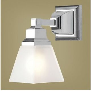 New 1 Light Mission Wall Sconce Lighting Fixture Polished Chrome Glass Livex