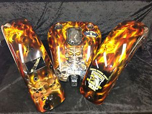 Custom Paint Job on Your Motorcycle Parts Gas Tank Front Fender Back Airbrushed