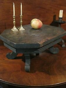 "Antique 1800s Wooden"" Best"" Paint Decorated Table Top Bench Stool Stand AAFA"