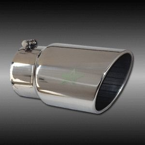"4"" Inlet 10"" Outlet 18"" Long Stainless Steel Rolled Angle Diesel Exhaust Tip"