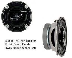 5 25 Car Speakers Front Door 3way 200W 4ohm 5253 FD C