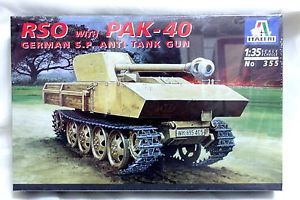 Italeri 1 35 355 WWII German RSO with Pak 40 Self Propelled Anti Tank Gun