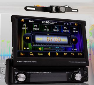 "Detachable 1 DIN 7"" Car DVD Player GPS RDS HD Digital iPod BT TV 3D Map Camera"