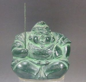 Ebisu Figure 42 Signed 7 Lucky Happy Fishing Wealth God Statue Japanese Buddha