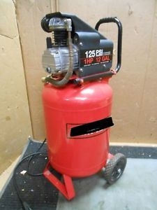12 Gallon Portable Vertical Air Compressor 125PSI 1HP