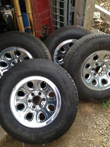 4 03 13 Dodge Chevy Ford Wheels Tires Rims 265 70 17