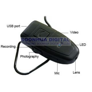 4GB Bluetooth Headphone DVR Video Recorder Spy Camera