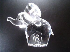 Limited Edition Swarovski Crystal Baby Elephant Figurine Retired Piece