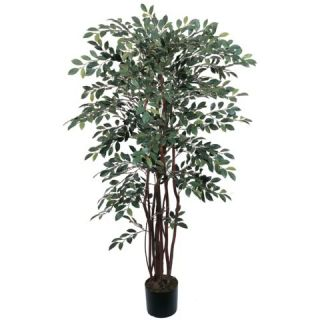 Decorative Natural Looking Artificial Potted 4' Ruscus Silk Tree Faux Fake Plant