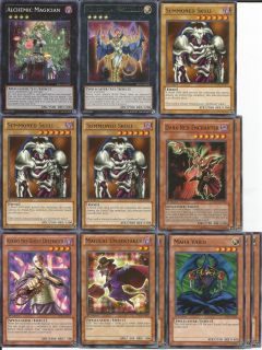 Yu Gi Oh 42 Card Beatdown Spellcaster Deck with Alchemic Magician and Number 104