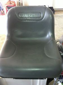 Grey Black Craftsman Highback Riding Lawn Mower Tractor Seat Used