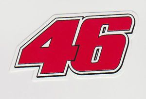 "B52 Number 46 MotoGP Valentino Rossi Car Bumper Sticker Decal 2""x4"" 5x10cm"