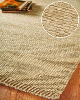 Guild 8' x 10' Natural Wool Area Rug Carpet New