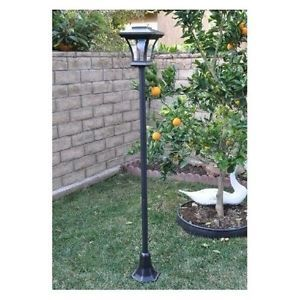 Solar LED Lamp Post Security Outdoor Lighting Yard Light with 3 Height Safety