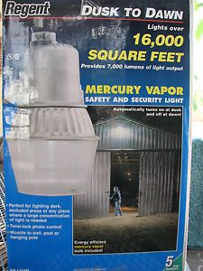 Regent Dusk to Dawn Security Light 7 000 Lumens Covers 16 000 Sq ft Barn Shed
