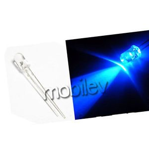 100 5mm 2 Pins Round Blue LED Light Emitting Diode Lamp