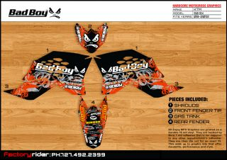 Bad Boy Motocross Graphic KTM SX 50 2009 2012 Dirt Bike Graphics Decal Deco