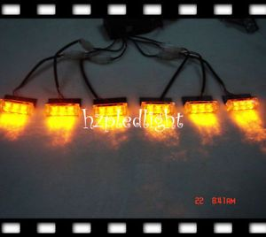 6x3 LED Flashing Amber Lights Recovery Security Traffic
