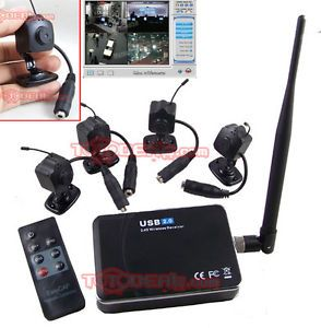 New Wireless Mini Hidden Camera 4 with USB DVR Surveillance System