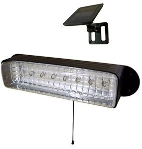 New Outdoor Garden 8 LED Solar Shed Eaves Work Light Lamp Garage Security Flood