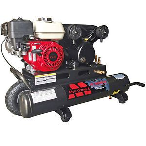 New 5 5 HP Honda Engine Portable Air Compressor Dual Outlets with Regulator