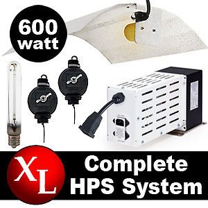 600 Watt HPS Grow Light Kit Plant Hydroponics Lamp Set 600w W System