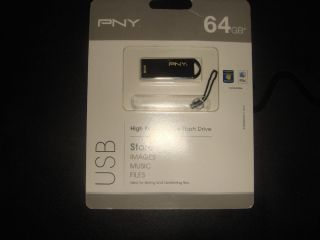 PNY 64GB Metal Micro USB Flash Drive New Unopen
