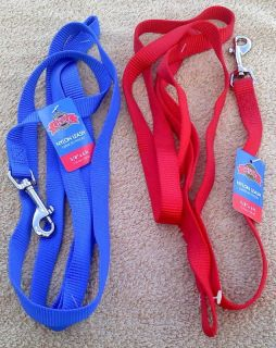 6ft Nylon Dog Leash Dog Lead by Great Choice Red Blue