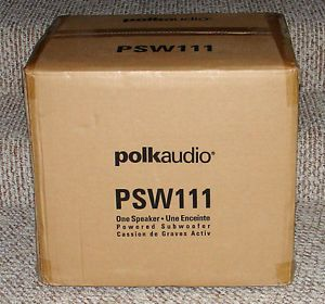 "New Polk Audio PSW111 Compact Home Theater 8"" Powered Subwoofer Black"